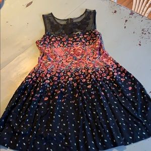Cute floral urban outfitters pleated dress